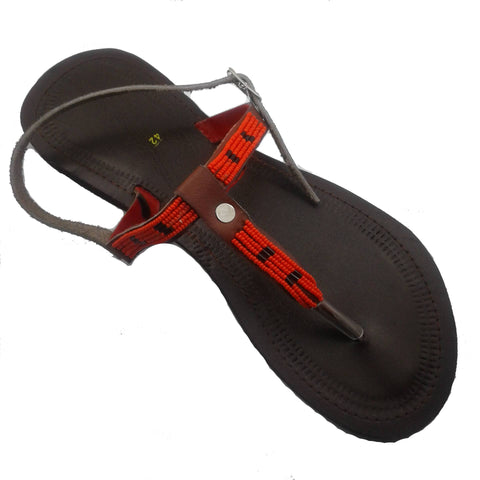 Thong Sandals With Ankle Strap