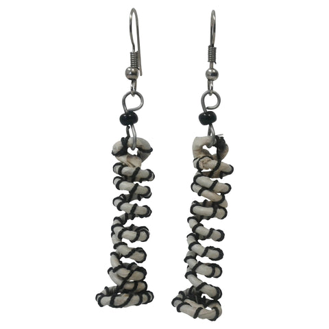 Vertical Spiral Earrings