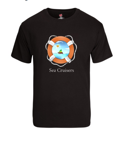 Men's Sea Cruisers Logo Tee - Black