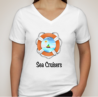 V-Neck Sea Cruisers Logo T-Shirt
