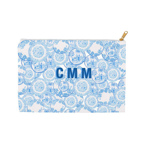 Transfer Ware China Porcelain Blue and White Clutch by Diga Linda
