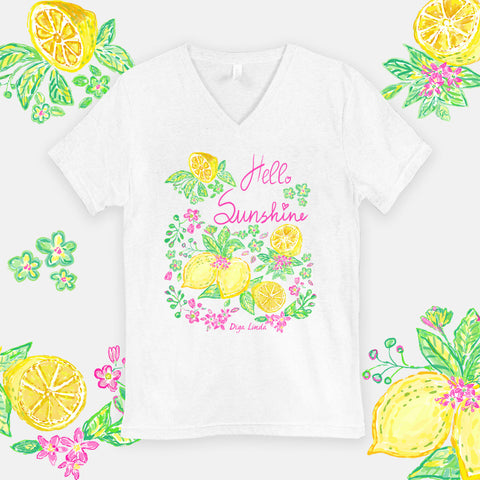 Hello Sunshine statement graphic tee by Diga Linda