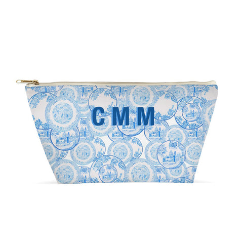 Transfer Ware China Porcelain Blue and White Large Pouch