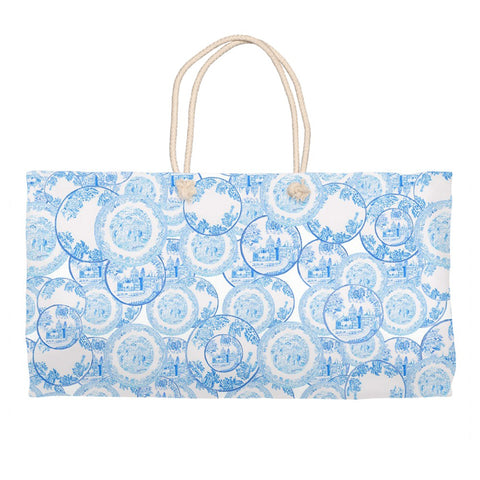 Transfer Ware Porcelain China Blue and white Travel bag