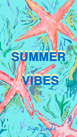 Summer download Summer vibes with blue background