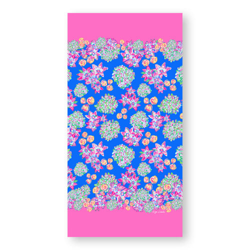 Beach Towel in the English Garden Print - Diga Linda