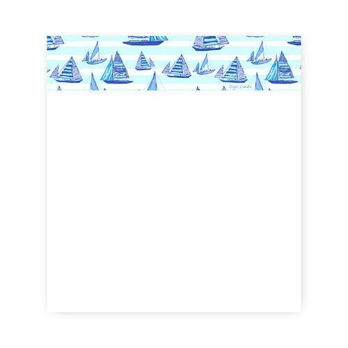 NOTEPAD IN SAILING BOATS PRINT - Diga Linda