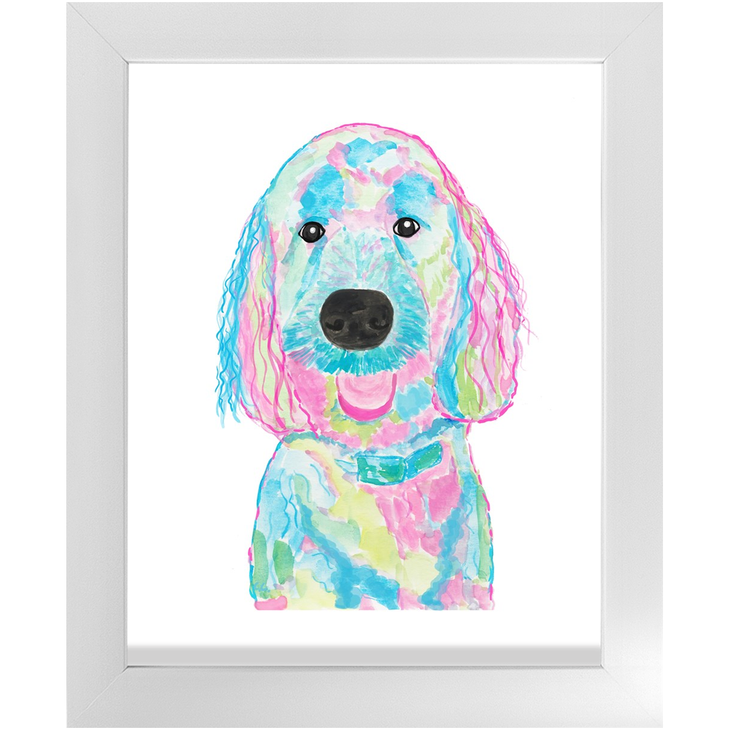 Commission Colorful Labradoodle (or your dog) Economy Framed Prints