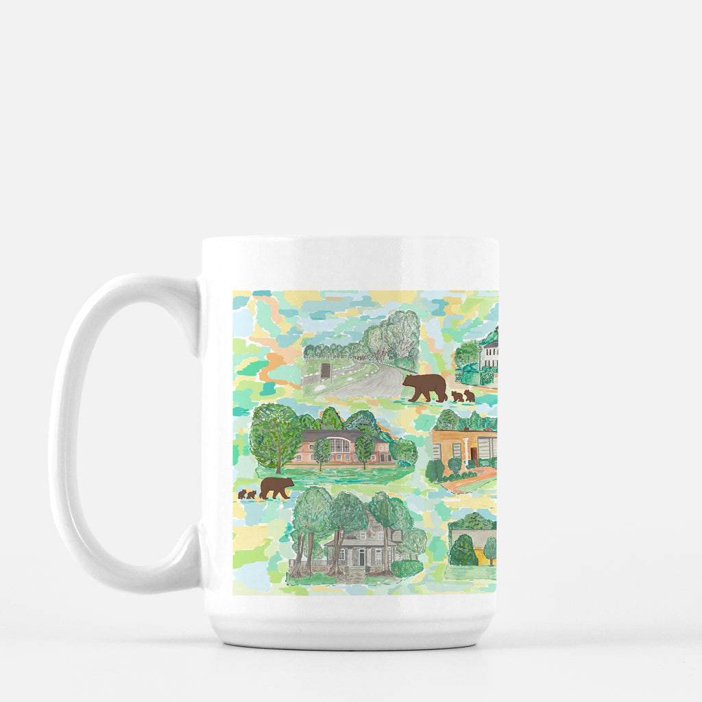 """School Buildings"" print mug - Diga Linda"