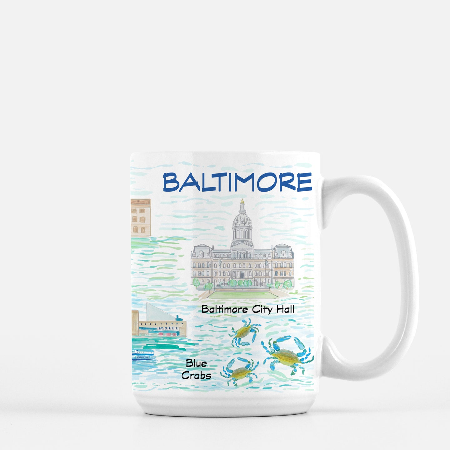 Baltimore Map Print Mug - Diga Linda