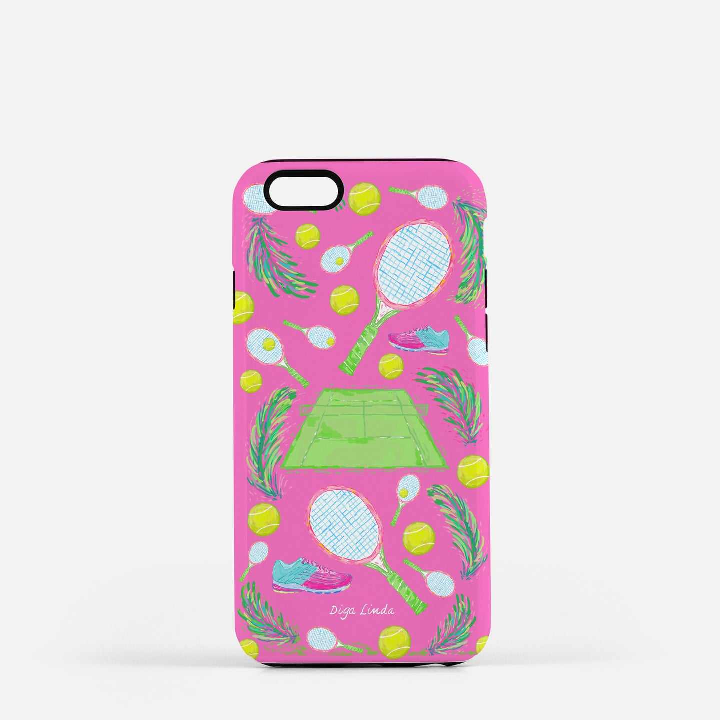 Tough Phone Case in the Tennis Rose Print - Diga Linda