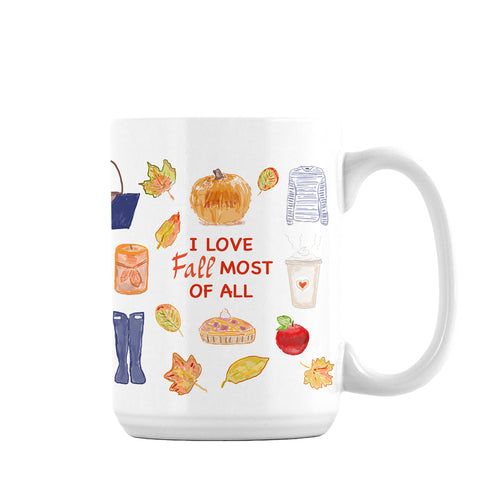 I love Fall most of all print mug ( Limited Time Only) - Diga Linda