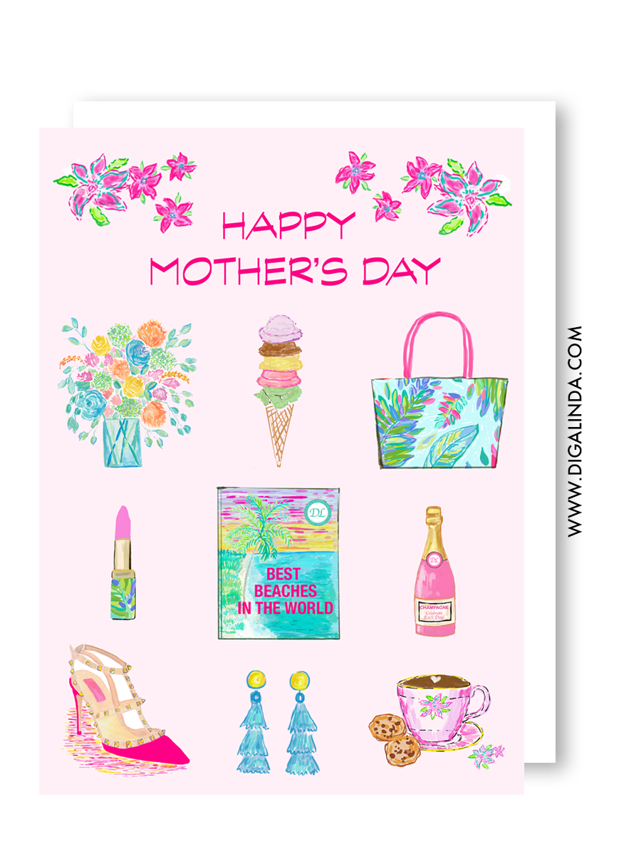 Happy Mother's Day card - Diga Linda