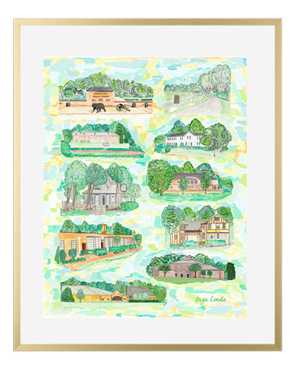 """School Buildings"" Fine Art Print - Diga Linda"