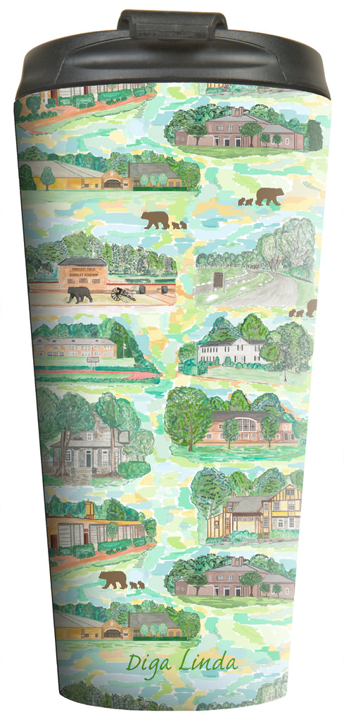 """School Buildings"" Prints Travel Tumbler - Diga Linda"
