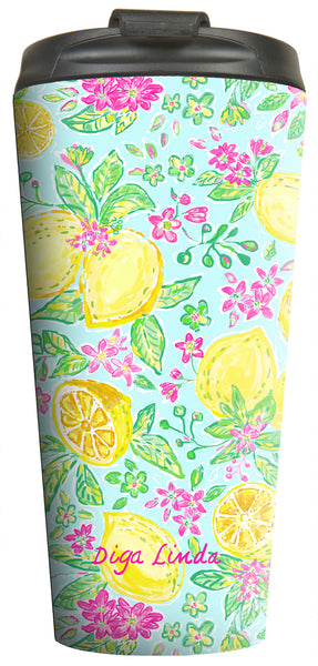 Lemon Joy Travel Tumbler - Diga Linda