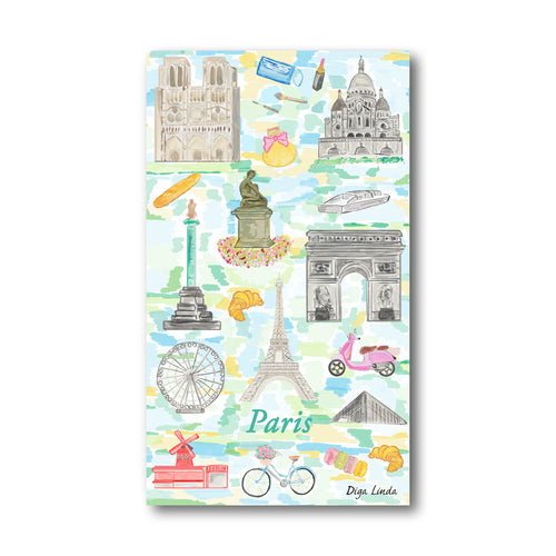 Paris Print Tea Towel - Diga Linda