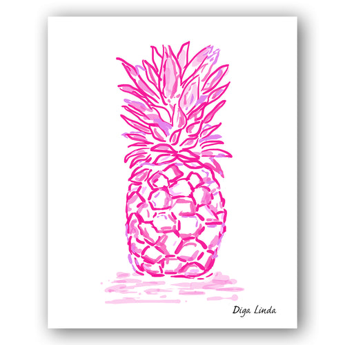 Pineapple Joy Art Print - Diga Linda