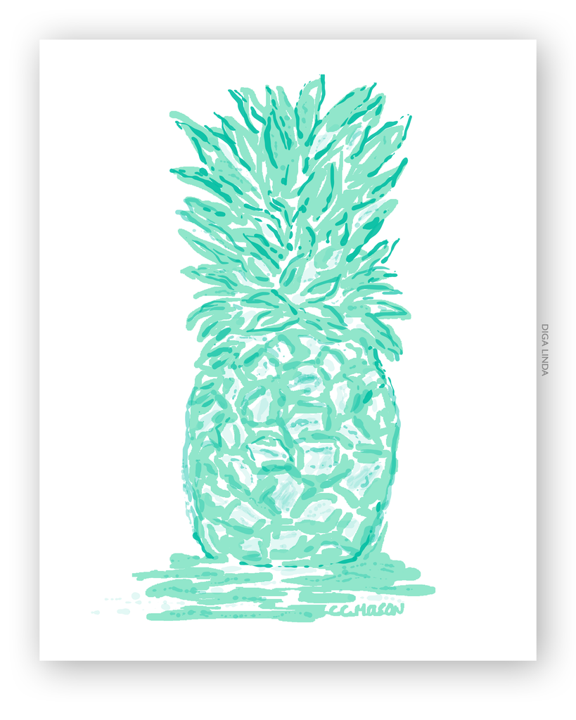 Pool Pineapple Art Print - Diga Linda
