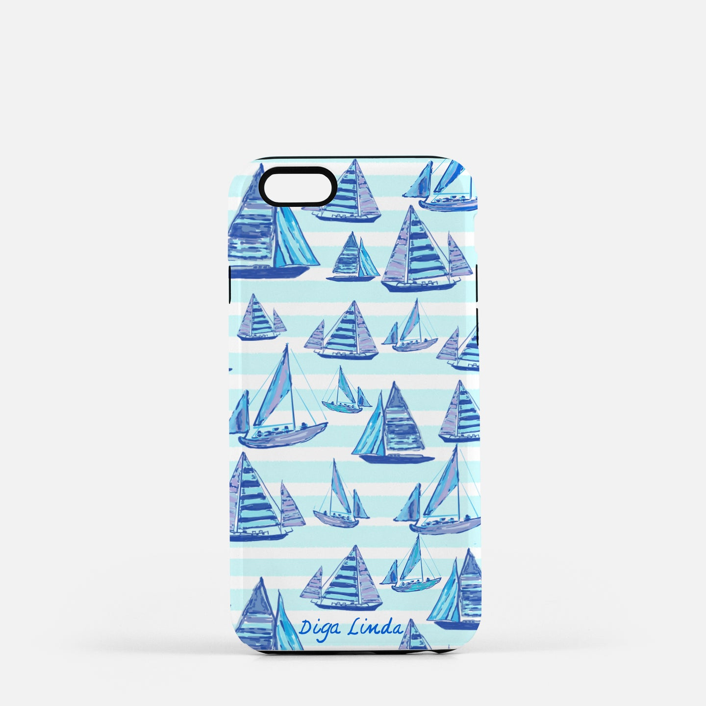 Tough Phone Case in Flamingo in the Sail Away Print - Diga Linda