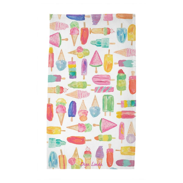 Ice Cream Tea Towel Print Tea Towel - Diga Linda