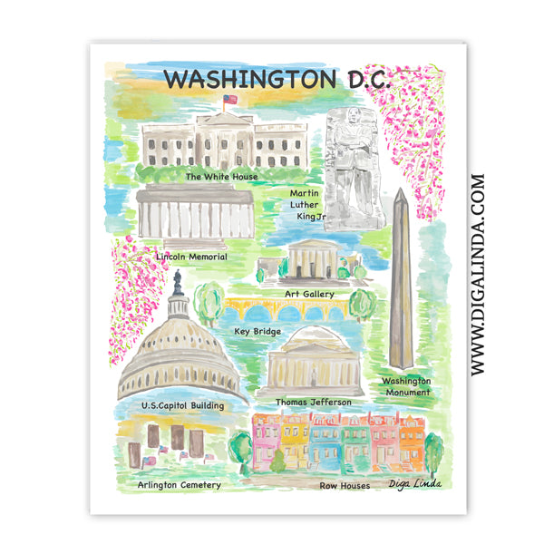 Washington DC Fine Art Print - Diga Linda