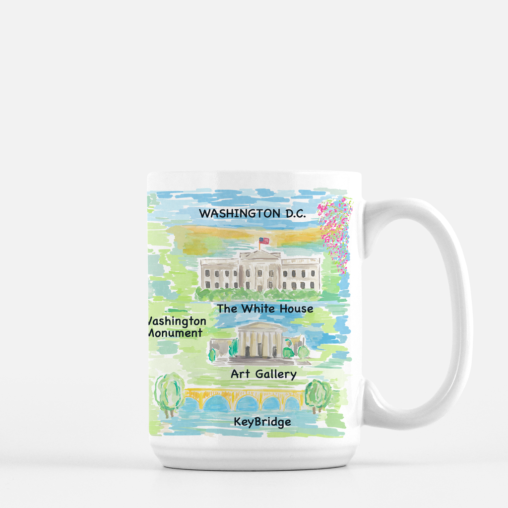 Washington DC Map Print Mug - Diga Linda