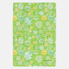 Wild Daisies Fleece Throw Blanket - Diga Linda