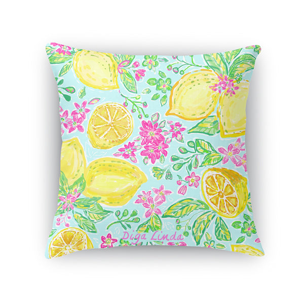 Lemon Joy artisan pillow - Diga Linda