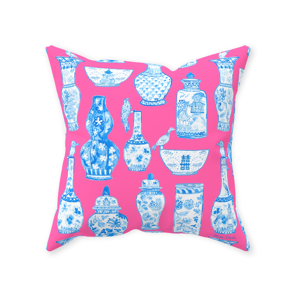 Chinoiserie Passion Throw Pillows