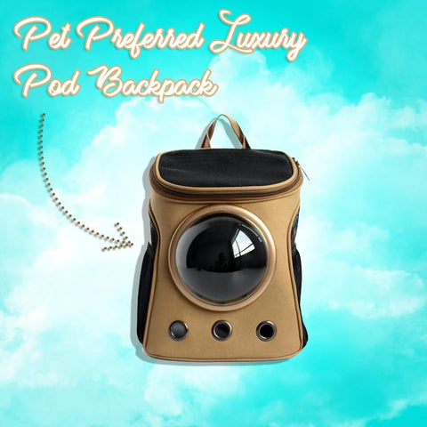 Pet Preferred Luxury Pod Backpack - Space Capsule Bag for Dogs, Cats and Small Pets