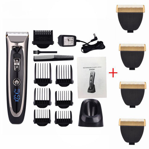 Professional Digital Hair Trimmer Rechargeable Electric Hair Clipper For Men