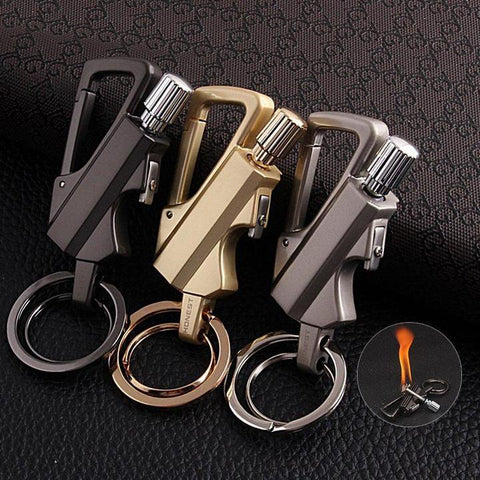 Keychain Flint Fire Starter For Emergency Portable lighter Accessory