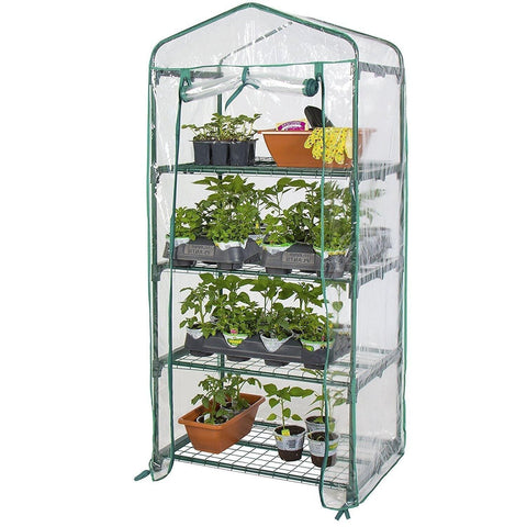 Garden Greenhouse Cover Walk-In Green Hot Plant House Shed Storage