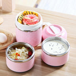 Stainless Steel Lunch Box Bento Thermal Insulated Leak-Proof Food Container 1/2/3 Layers