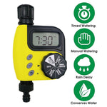 Garden Tools Programmable Single Outlet Digital Garden Water Timer Large LCD for Outdoor Flowers Irrigation