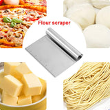 DIY Stainless Steel Smoother Edge Cake Scraper Pizza Dough Scraper Cutter Cake Tool
