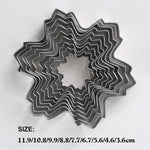 9 PCS Snowflake Shape Cookie Cutter Decorating Moulds Stainless Steel Cake Mold
