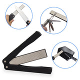 Pocket Diamond Knife Sharpening Tool Double Sided Folded Sharpener