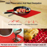 Non-stick Silicone Baking Mat,Healthy Cooking Oven Mat Fat-reducing Grill Mats BBQ