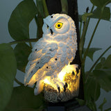 LED Garden Lights Solar Night Lights Owl Shape Solar-Powered Lawn Lamp