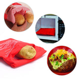 Microwave Potato Cooker Bag-Reusable Baking Bag, Perfect Potatoes Just in 4 Minutes