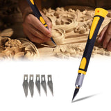 Garden Tools Wood Carving Tool Sharp Non-slip Handle Crafts Art Hobby Sculpture Cutter Tool with 11Pcs Blades