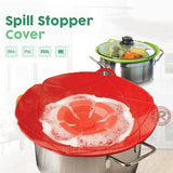 Spill Stopper Lid Cover Multi-Function Kitchen Tool