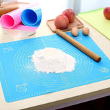 Non-Stick Silicone Pastry Baking Mat with Measurements. Finally a Baking Mat that Really Works.