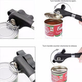 Manual  Soft Grips Handle  Cuts Side Cutting Can Opener