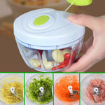 Convenient Manual Pull Rope Food Vegetable Blender Chopper Hand Held Pulling Slicer Mincer
