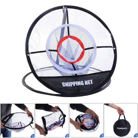 Portable Pop-Up Golf Chipping Net Indoor/Outdoor Golfing Target Net for Accuracy and Swing Practice