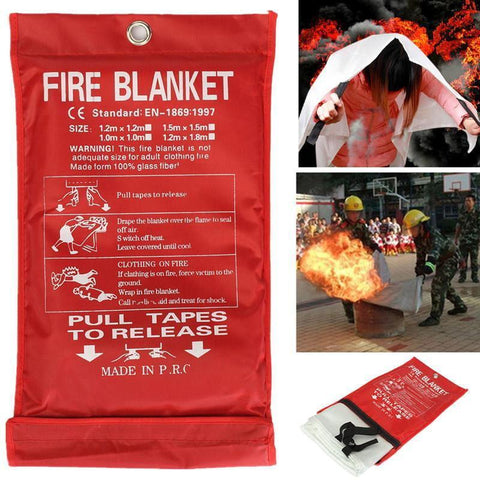 Emergency Fire Blanket Fiberglass Flame Retardant Survival Safety Cover