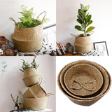 Foldable Natural Seagrass Multi-Purpose Basket